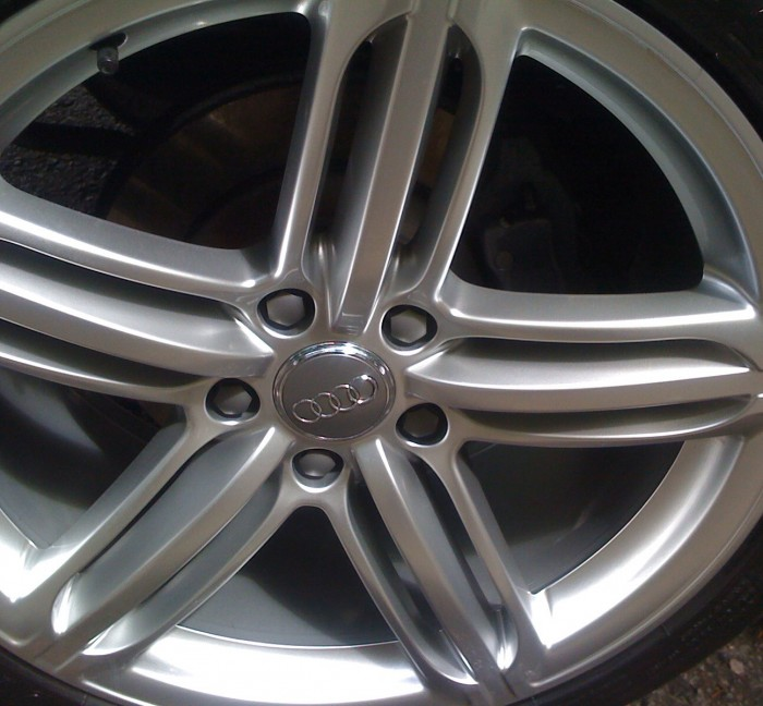 Alloy wheel clean – after