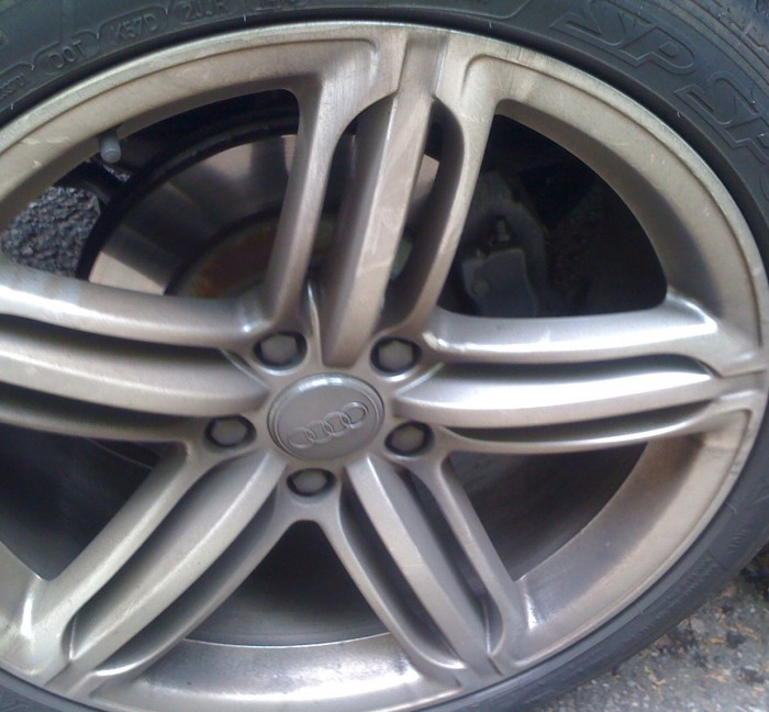 Alloy wheel clean – before