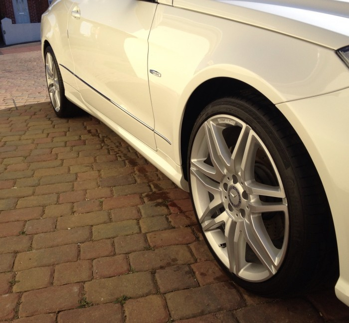 Alloy wheel clean and polish